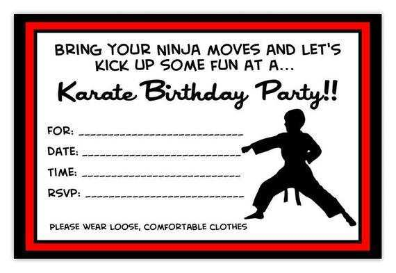 40 Best Karate Birthday Party Invitation Template Free Maker With Karate Birthday Party Invitation Template Free, Amerikick Martial Arts (Park Slope) in Brooklyn, NY